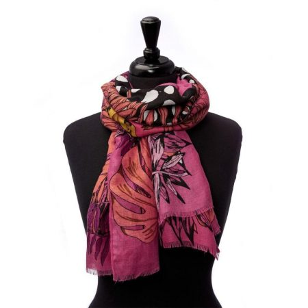 Scarves | Moda in Pelle Womens Tizannascarf Pink Fabric Pink