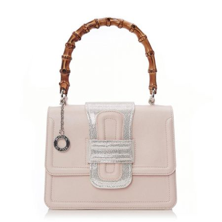 Tote Bags | Moda in Pelle Womens Minibamboo Nude Porvair Nude