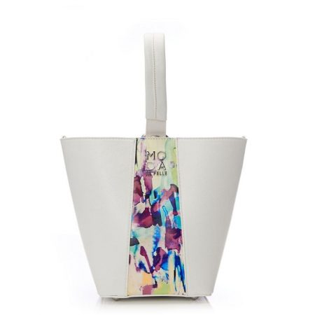 Tote Bags | Moda in Pelle Womens Serenabag White Porvair White