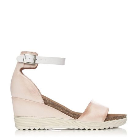 Wedge Sandals | Moda in Pelle Womens Loraynie Light Pink Leather Light