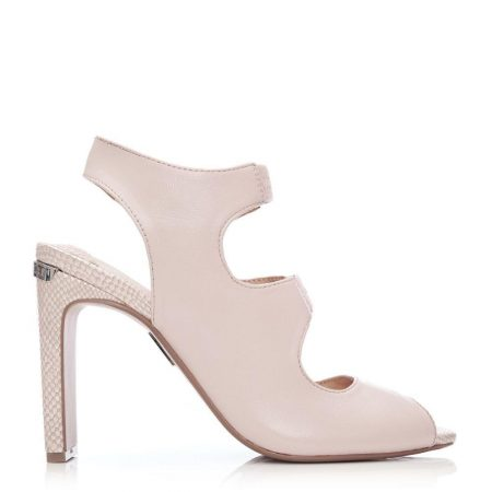 Wedge Sandals   Moda in Pelle Womens Milleni Nude Leather Nude