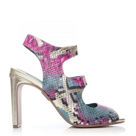 Wedge Sandals | Moda in Pelle Womens Milleni Pink – Gold Snake Print Pink