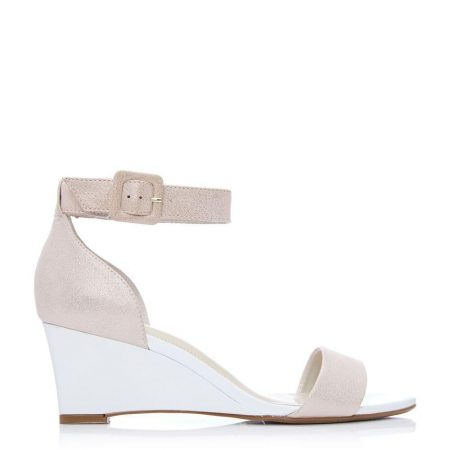 Wedge Sandals   Moda in Pelle Womens Parcia Rose Gold Leather Rose
