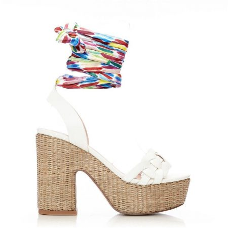 Wedge Sandals   Moda in Pelle Womens Peonie White Porvair White