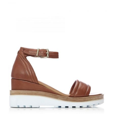 Wedge Sandals | Moda in Pelle Womens Picante Tan Leather Tan