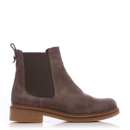 Ankle Boots | Moda in Pelle Womens Carisina Taupe Suede Taupe