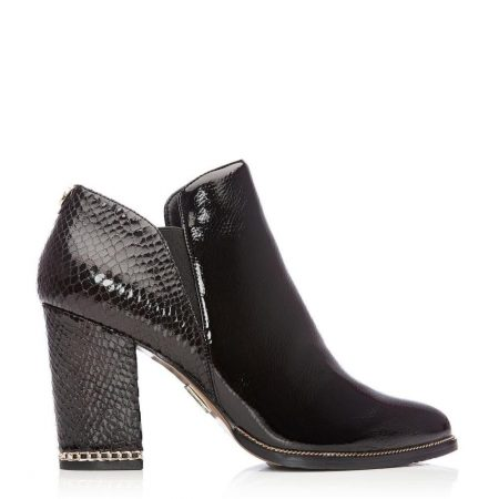 Ankle Boots | Moda in Pelle Womens Kailey Black Patent Black
