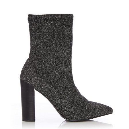 Ankle Boots | Moda in Pelle Womens Losia Pewter Fabric Pewter