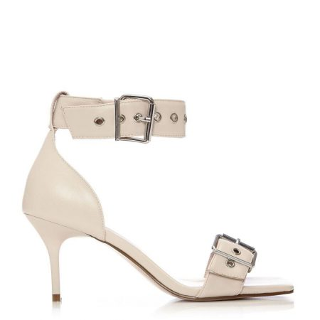 Heeled Sandals | Moda in Pelle Womens Luckey Off White Porvair Off