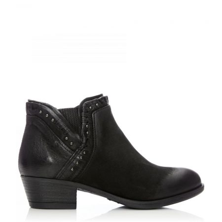 Ankle Boots | Moda in Pelle Womens Beretia Black Leather Black