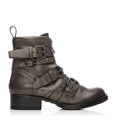 Ankle Boots | Moda in Pelle Womens Bilanno Pewter Leather Pewter