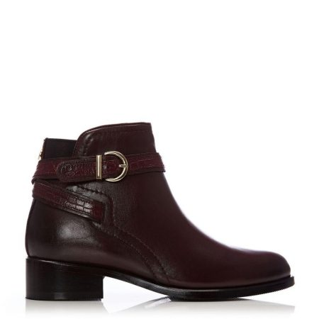 Ankle Boots | Moda in Pelle Womens Lettia Burgundy Leather Burgundy