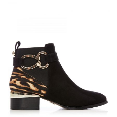 Ankle Boots | Moda in Pelle Womens Tyanna Black Tiger Suede Black