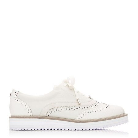 Brogues And Loafers | Moda in Pelle Womens Fellis Off White Leather Off