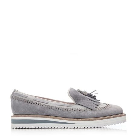 Brogues And Loafers | Moda in Pelle Womens Frizzle Light Blue Suede Light
