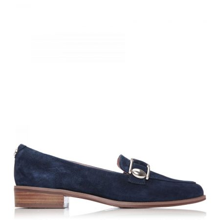 Flat And Ballerina Shoes | Moda in Pelle Womens Forilia Navy Suede Navy