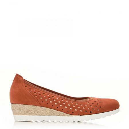 Flat And Ballerina Shoes | Moda in Pelle Womens G Evelyn Taupe Nubuck Evelyn