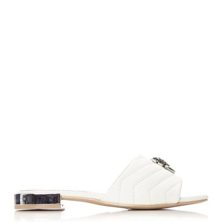 Flat And Ballerina Shoes | Moda in Pelle Womens Nalmo White Porvair White